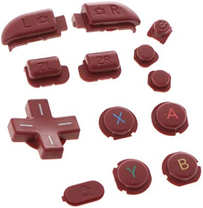 B Baosity 13イン1 フルボタン New 3DSLL/XL対応 L&R ZR ZLボタンセット レッド