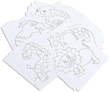 Betzold Tiermotiv Karten 25 Stuck Zum Selbstgestalten Kinder Malvorlagen Basteln Mit Kleinkinder Ausmalbilder Ausmalen Elefant Lowe Papagei Chamaleon Und Giraffe Malspass Zeichnen Und Malen Amazon De Spielzeug