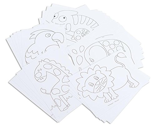Betzold Tiermotiv Karten 25 Stück Zum Selbstgestalten Kinder