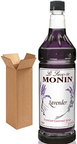Monin Lavender Syrup, 33.8-Ounce Plastic Bottle (1 Liter)