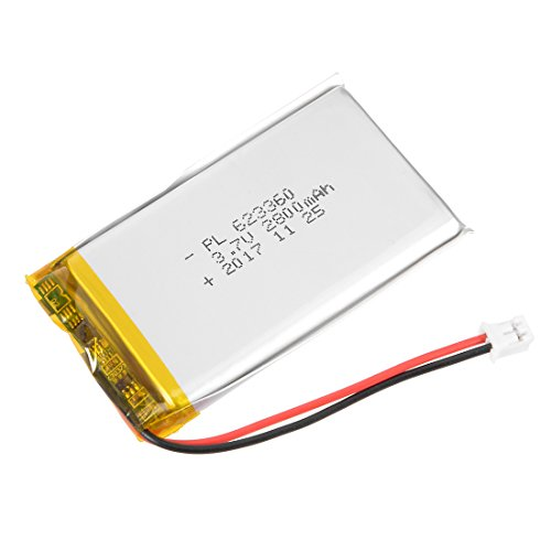 uxcell Power Supply DC 3.7V 1400mAh 623360 Li-ion Rechargeable Lithium Polymer Li-Po Battery