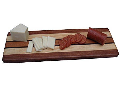 Signature Collection Cheeseboard, Cutting Board - Sapele, Maple, Walnut & Cherry - Maple Sushi Board