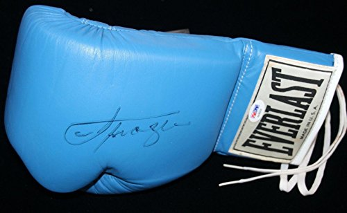 Rare Signed Joe Frazier Blue Everlast Boxing Glove Loa Auto Autographed - PSA/DNA Certified - Autographed Boxing Gloves (Joe Frazier Autograph)