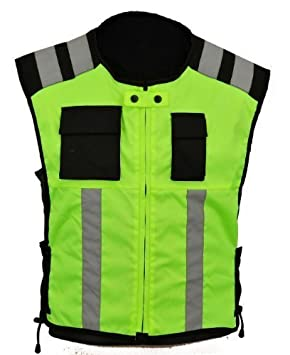 Gearx Hi Visibility Vest 4 Motorbike or Industrial Safety Wears, 3XL