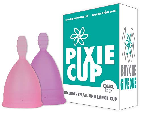 Diva Menstrual Cup (Ranked 1 for Most Comfortable Menstrual Cups and Best Removal Stem - Every Menstrual Cup Purchased One is Given to a Woman in Need!)