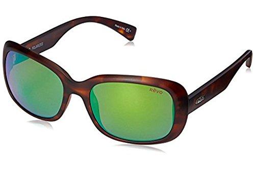 Revo Paxton RE 1039 12 GN Polarized Rectangular Sunglasses, Honey Tortoise/Green Water, 56 - Sunglasses Tech High