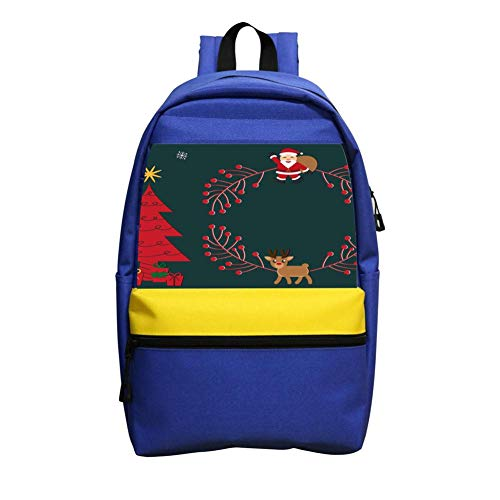 Christmas Decorative Painting Schoolbag Boys and Girls 1-6 Year Old Children Backpack Blue