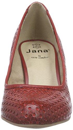 Jana 22401 - Zapatos de Tacón Mujer Rojo - rojo (Chili 533)
