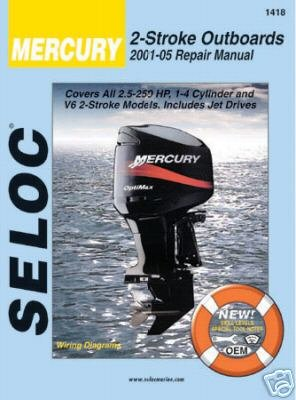 1 Parts Book Manual - Mercury Engine Repair and Maintenance Manual, All 2 Stroke Engines, 2001 to 2009