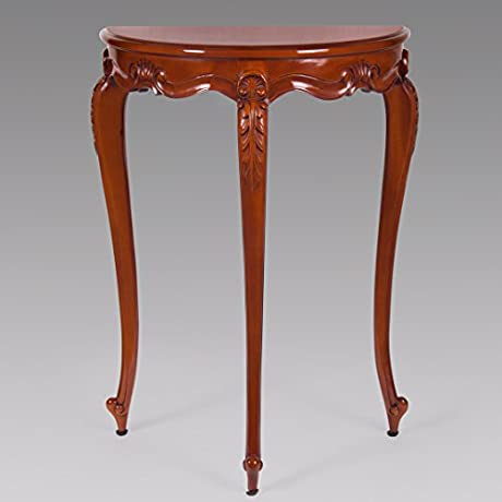 Small French Style Carved Mahogany Accent Table New JI 11399 MLSP