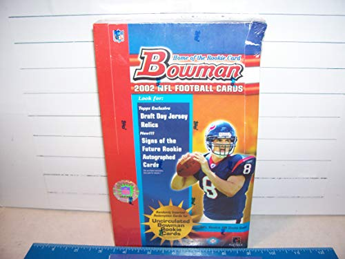 2002 BOWMAN FOOTBALL FACTORY SEALED HOBBY BOX MINT -165 ROOKIES IN SET ()