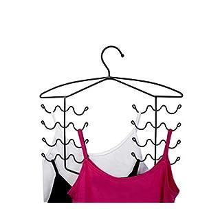 CAXXA 2 PK - Bronze Women's Bra Sport Tank Camisole Top Swim Suit Strap Dress Hanger Closet Organizer (2 Pack)