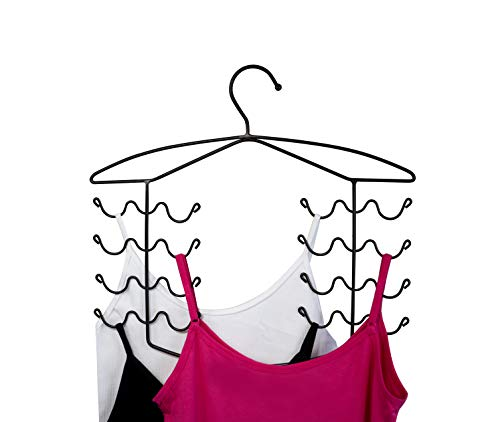 3 Pack Bronze Women's Bra Sport Tank Camisole Top Swim Suit Strap Dress Hanger Closet Organizer (3 Pack) -
