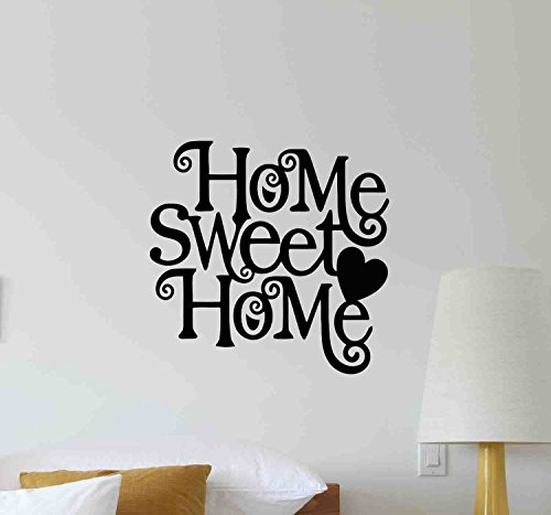 Home Sweet Home Wall Decal Gift Quote Inspirational Lettering Office Vinyl Sticker Motivational Climber Gift Home Bedroom Decor Art Poster Mural Custom Print 680