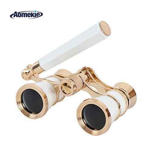 Aomekie Opera Glasses Binoculars 3X25 Theater Glasses Lorgn