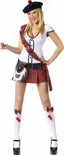 Sexy Scottish Kilt Costume - Small/Medium
