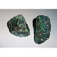 2pc #5 Raw Chrysocolla Natural Rough free form Crystal Healing Gemstone Cluster Specimen Stones