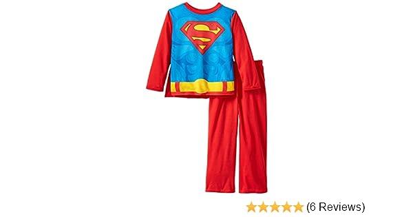 Amazon.com  Komar Kids Boys 4-8 Red Superman Pajamas with Cape M 8  Clothing ed3dd2608