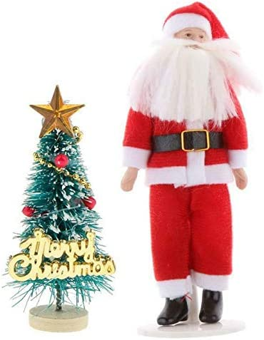 Christmas Santa Claus Miniature Dollhouse Picture
