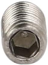 uxcell 3mmx6mm 304 Stainless Steel Hex Socket Cup Head Set Grub Screws 200pcs
