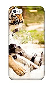 Pauline F. Martinez's Shop Tpu Phone Case With Fashionable Look For Iphone 5/5s - Tigers Playing 9144936K56855241