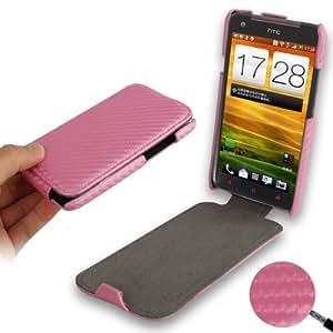 Rocina - Funda con tapa para HTC One X (S720e), color rosa