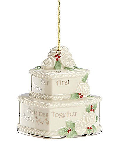 Lenox 2012 Our First Christmas Together Cake Ornament (Dinnerware Evening Collection Sun)