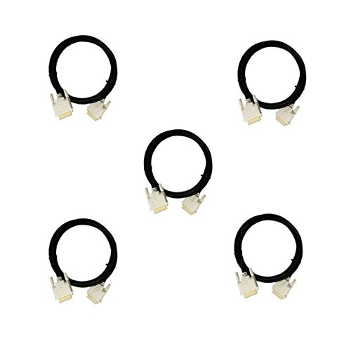 CNE414954 High Resolution Gold 6-Feet DVI to DVI Cable for Flat Panel Displays, HDTV and Plasma, 5-Pack by C&E