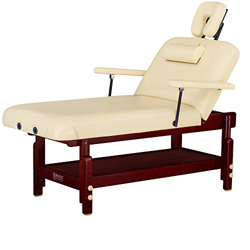 Master Massage 31'' Spamaster Series LX Stationary Massage Table with MEMORY FOAM Package, Cream