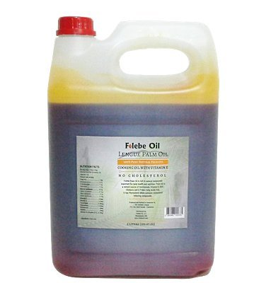 Price comparison product image 100% Pure Natural Red Palm Oil. 5 Liter. No Cholesterol Cooking Oil with Vitamin E. Cruelty-Free Palm Oil rich in anti-oxidants. Folebe Oil. Cameroon Palm Oil.