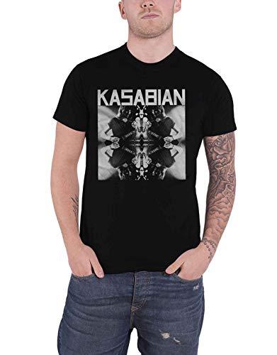 Kasabian T-shirts - Kasabian T Shirt Solo Reflect Band Logo Official Mens Black Size XXL