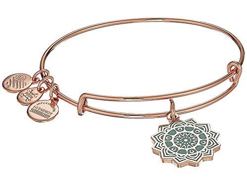 Alex and Ani Heart Chakra Charm Bangle Bracelet - Shiny Rose Gold Finish ()