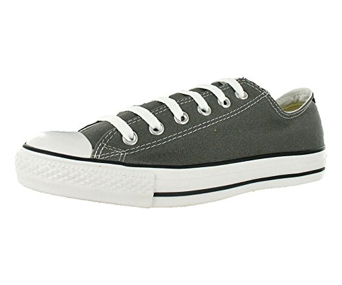 Converse Chuck Taylor All Star Canvas Low Top Sneaker,Charcoal,10 US Men/12 US Women