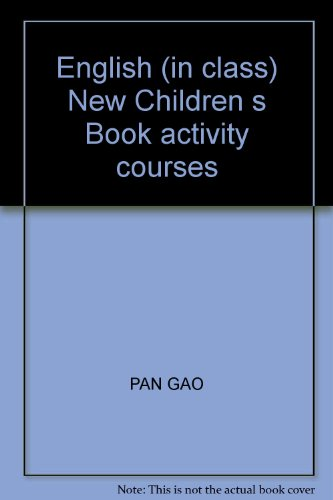 English (in class) New Children s Book activity courses