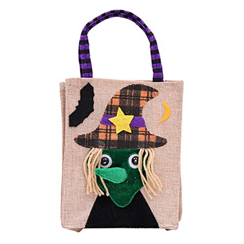 Adisaer Trick or Treat Bags Felt Bags with Handle for Kids Candy Pumpkin Hand Bags Halloween Costume Party