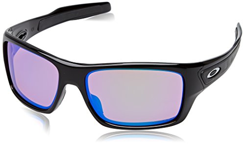 Oakley Men's Turbine OO9263-08 Polarized Iridium Rectangular Sunglasses, Polished Black, 65 - Oakley Sunglasses Running
