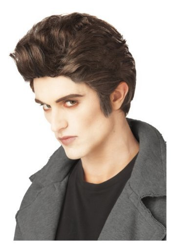 Mens Vampire Wig Love at First Bite Edward Cullen Twilight Fancy Dress Costume by Mega Fancy Dress (Love Bite Vampire Costume)
