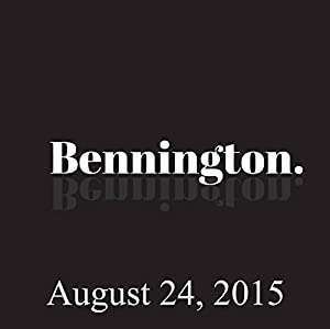 Bennington, Emma Willmann, August 24, 2015 Radio/TV Program