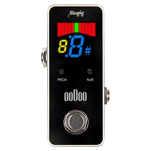 Tuner Pedal for Guitar and Bass - Mini - Chromatic - with Pitch Calibration and Flat Tuning by Mugig by Mugig (Image #1)