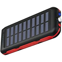 Portable Charger Power Bank Solar Charger 25000Mah Waterproof Batter Pack For iPhone, iPad & Samsung Galaxy & More