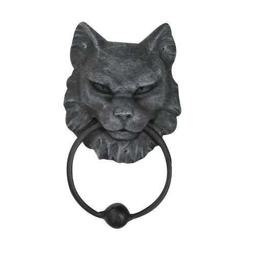 Ball Gargoyle (Cat Gargoyle Door Knocker Metal Ring Knocker Ball Sculpture)