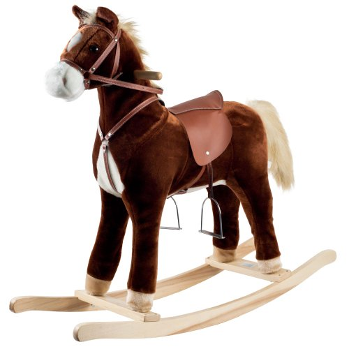 Brown Rocking Horse - Happy Trails Plush Rocking Horse