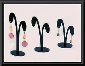 aretes TRIO exhibición Stands para oído la joyería de - pie negro pendientes titular pendiente presentación 9 x tapones soporte