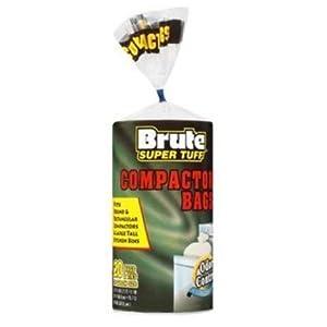 Brute Super Tuff 20 Gallon Size Compactor/kitchen Bags - White