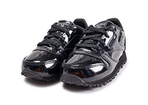 Reebok Classic Leather Patent, Zapatillas de Deporte Unisex Niño, Negro (Black 000), 24.5 EU