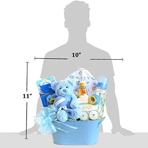 Amazon.com: Bienvenido Bebé recién nacido Baby Blue cesta ...