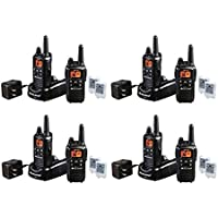 Midland LXT600VP3 FRS/GMRS 2 Way Radios 26-Mile 36 Channels with AVPH4 HEADSETS, Brand New Sealed 8 PACK