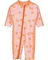 SwimZip® Baby Girl Long Sleeve Sunsuit with UPF 50+