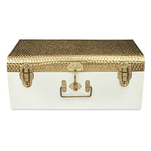 ELAN Beaten Brass style Metal storage Trunk. - Brass Trunk