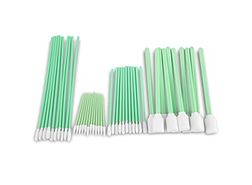 Price comparison product image Zetek Bundle Foam Tip Cleaning Swabs Sponge Stick for Inkjet Printer,  Printhead,  Camera,  Cleanroom,  Optical Lens,  Gun,  Automotive Detailing,  Optical Equipment …